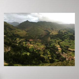 Gargantuan Mountains in Peru Poster