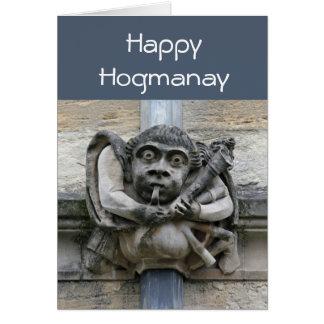 Gargoyle Hogmanay card