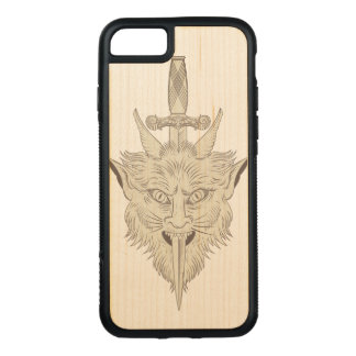 Gargoyle Illustration Carved iPhone 8/7 Case