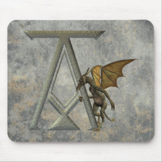 Gargoyle Monogram A Mouse Pad