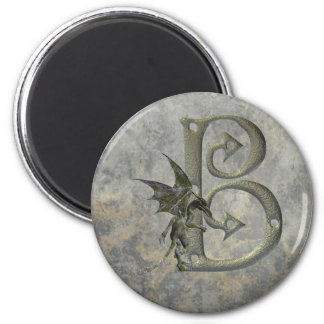 Gargoyle Monogram B 6 Cm Round Magnet