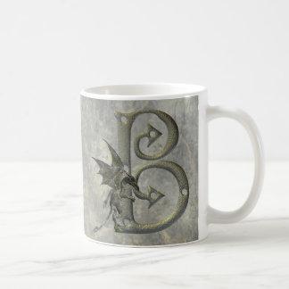 Gargoyle Monogram B Coffee Mugs