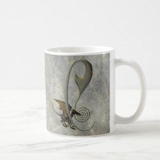 Gargoyle Monogram C Basic White Mug