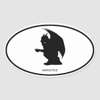 Gargoyle Oval Sticker