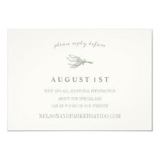 GARLAND GREENS WEDDING INSERT CARD