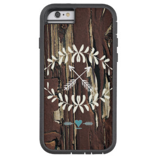 Garland Hearts Crossed Arrows Barnwood Retro Tough Xtreme iPhone 6 Case