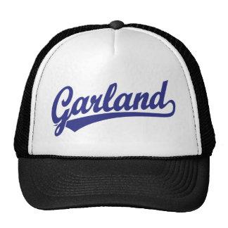 Garland script logo in blue cap