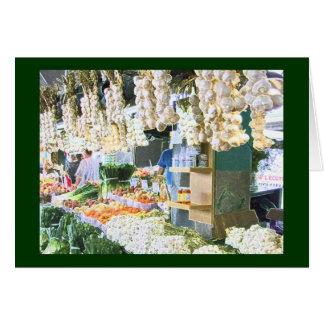 Garlic at the Jean Talon Market Card