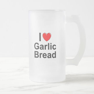 Garlic Bread Frosted Glass Beer Mug