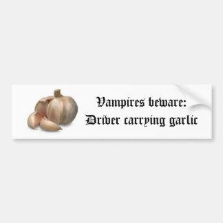 Garlic bulb bumper sticker