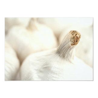 Garlic bulbs 13 cm x 18 cm invitation card