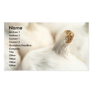 Garlic bulbs pack of standard business cards
