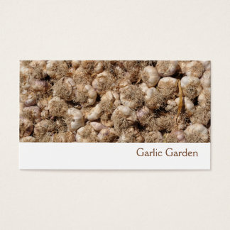 Garlic business card