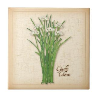 Garlic Chives Herb Ceramic Tile
