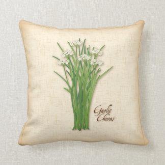 Garlic Chives Herb Throw Pillow
