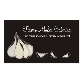 Garlic cloves chef cooking culinary business ca... pack of standard business cards