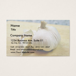 Garlic Cloves Still Life Business Card