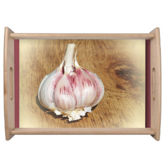 garlic,food, kitchen, tray, kitchen decor, cooking serving tray