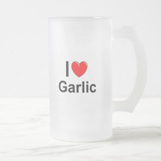 Garlic Frosted Glass Beer Mug