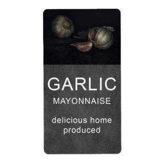 Garlic mayonnaise label