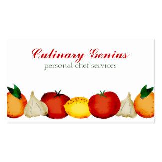 garlic orange lemon fruit vegetable business cards