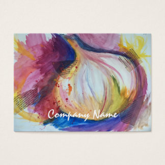 Garlic Portrait Collage Painting Artistic Business Card