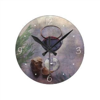 Garlic wine and herbs clock