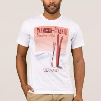 Garmisch Classic,Bavarian Alps Ski poster T-Shirt
