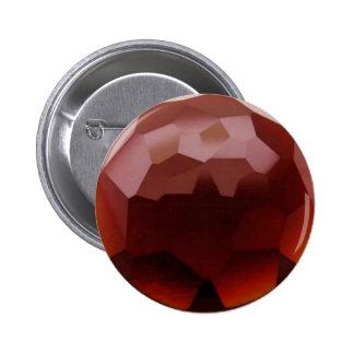 Garnet 01, January, Birthstone 6 Cm Round Badge