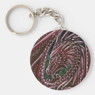 Garnet Dragon Keychain