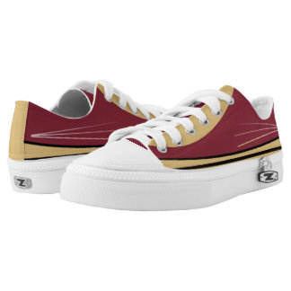 Garnet Gold and Black Tres Lo-Top Printed Shoes