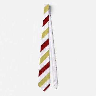 Garnet Gold and White Diagonally-Striped Tie