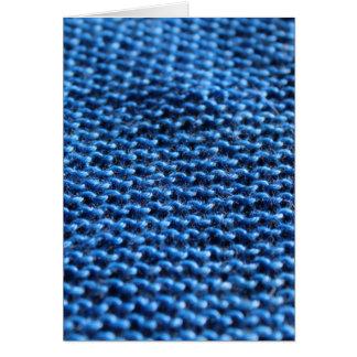 Garter Stitch in blue Card