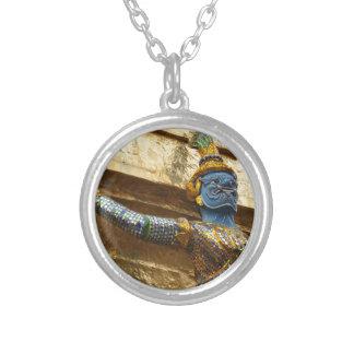 Garuda alone silver plated necklace