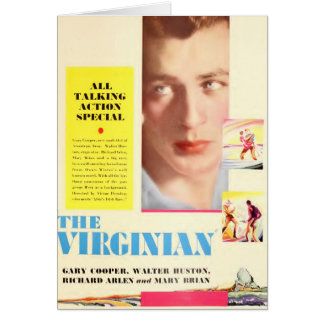 Gary Cooper 1929 The Virginian color card