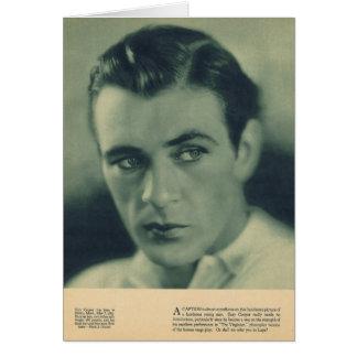 Gary Cooper 1930 portrait Card
