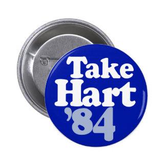 Gary Hart - Take Hart '84 6 Cm Round Badge