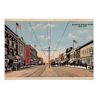 Gary, Indiana Broadway looking south Poster