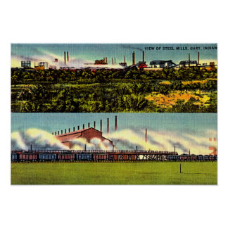 Gary, Indiana Steel Mills 1930 Poster