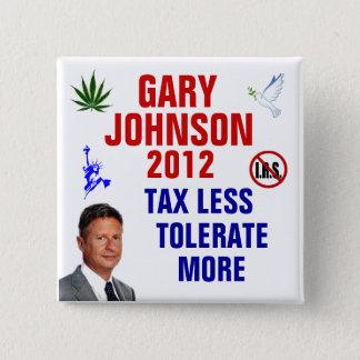 Gary Johnson 2012 15 Cm Square Badge