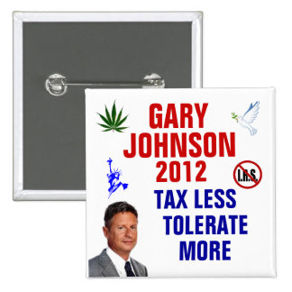 Gary Johnson 2012 15 Cm Square Badge