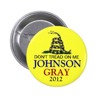 GARY JOHNSON 2012 6 CM ROUND BADGE