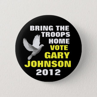 Gary Johnson 2012 peace 6 Cm Round Badge