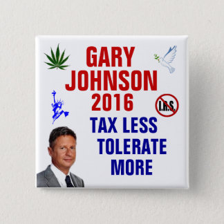 Gary Johnson 2016 15 Cm Square Badge