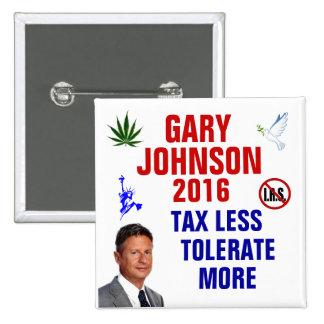Gary Johnson 2016 15 Cm Square Badge