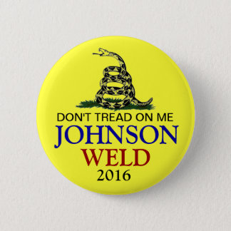 GARY JOHNSON 2016 6 CM ROUND BADGE