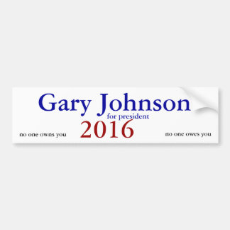 gary johnson 2016 bumper sticker