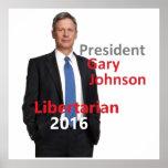 Gary JOHNSON 2016 Print