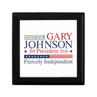 Gary Johnson 2016 Small Square Gift Box