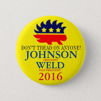 Gary Johnson/Bill Weld 2016 6 Cm Round Badge